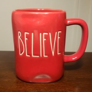 Rae Dunn Christmas Mug Red believe